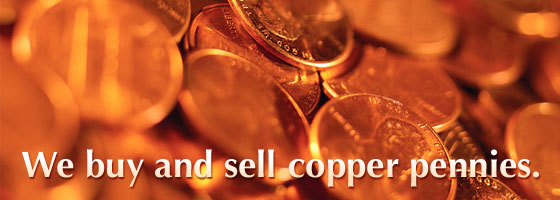We buy and sell copper pennies